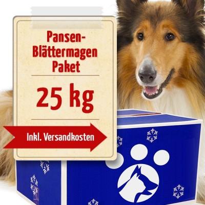 25-kg-Pansen-Blättermagen-Paket - Frostfutter Vertrieb